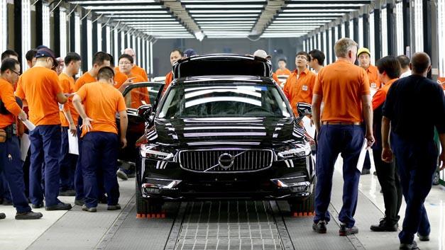 Vorserienproduktion des Volvo S90 im chinesischen Volvo Werk Daqing.