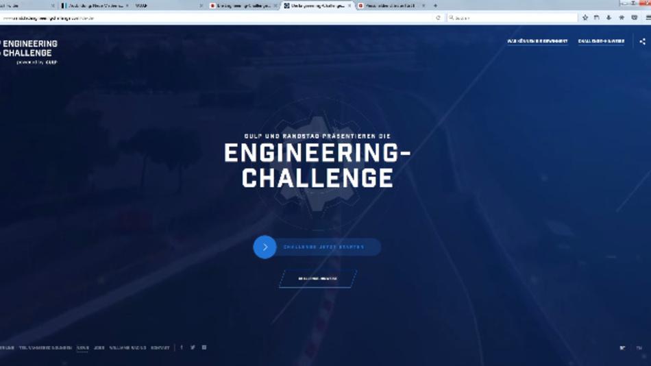 Die Engineering-Challenge wurde zusammen mit Ingenieuren vo Williams Martini Racing entwickelt.