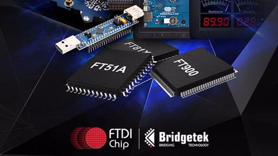 FTDI Chip verlagert seine Mikrocontroller-Aktivitäten in das neue Unternehmen Bridgetek.