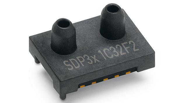 Bild 4. Der Differenzdrucksensor SDP3x von Sensirion ist nach Herstellerangaben der kleinste auf dem Markt.
