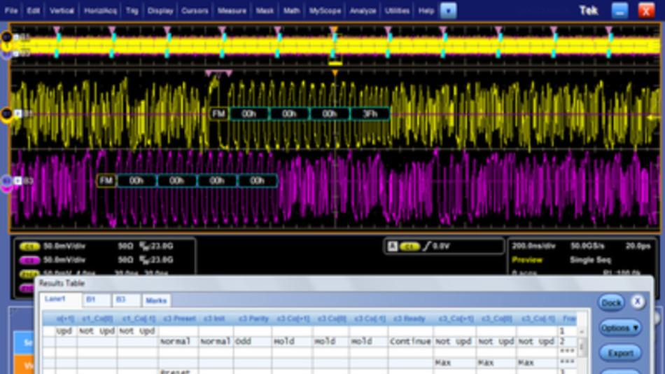 Als Teil eines größeren DPO70000SX-Firmware-Updates bietet Tektronix ein neues 100G Link Training Tool für das Debugging von Datencenter-Technologien an.