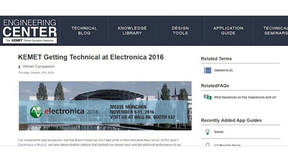 Kemets Engagement während der electronica 2016