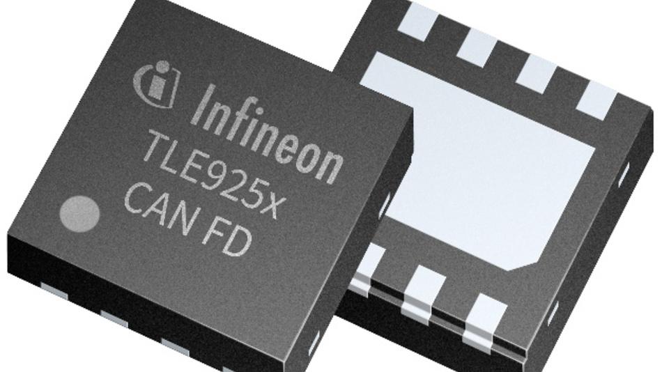 Die CAN-FD-Transceiver TLE925x beschleunigen die Fahrzeugkommunikation. Im TSON-8-Gehäuse sind sie 3 x 3 mm² groß.