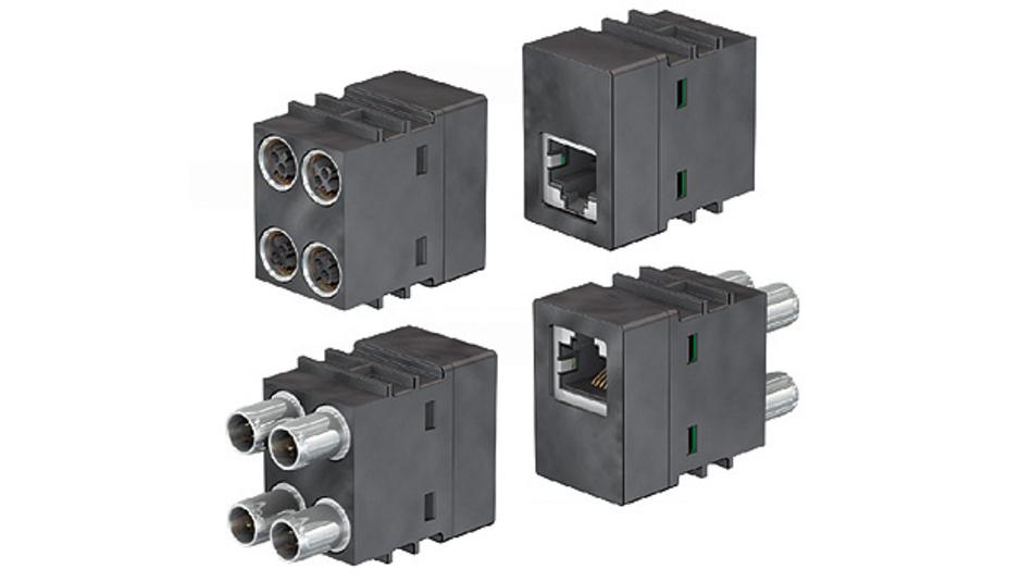 Bild 1. Das von Multi-Contact entwickelte 10-Gbit/s-Modul für die Ethernet-Kommunikation erfüllt die Anforderungen von CAT6A.
