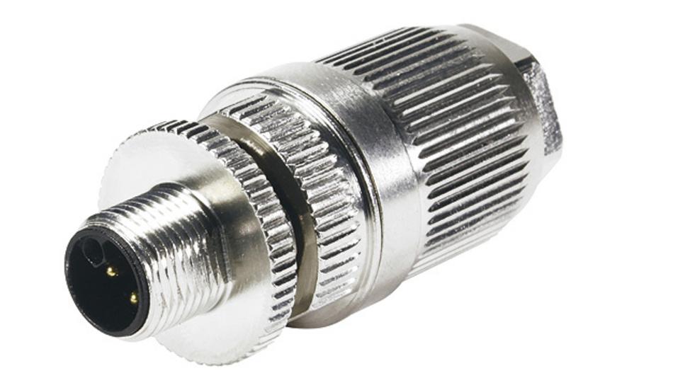 Bild 2. Mit dem M12 Power L-coded kann über vier Power-Kontakte und einen FE-Leiter die erforderliche Leistung an Feldverteilerboxen, Netzgeräte oder auch kleine Servomotoren übertragen werden