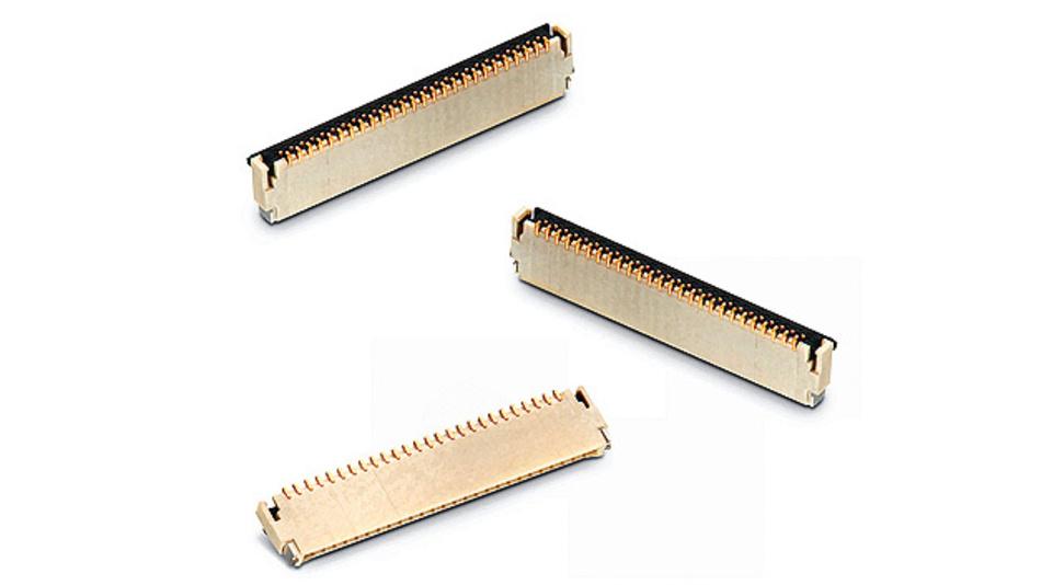 Bild 3. Bei dem Back-Lock-Dual-Contact-ZIF-Steckverbinder sorgen hohe Haltekräfte für die zuverlässige Verbindung zwischen Steckverbinder und Flachband-Kabel.
