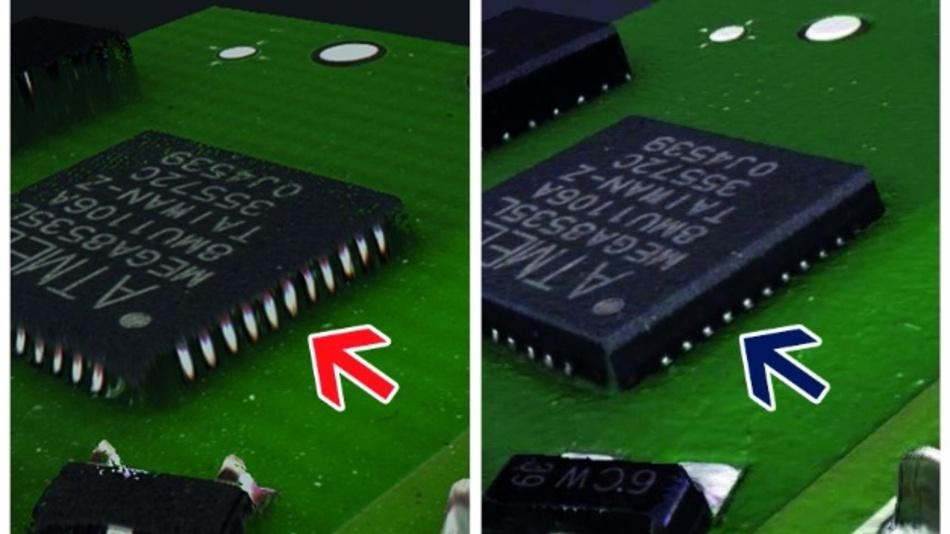 Detailgetreue, scharfe Bilder gibt es mit der neuen Software-Erweiterung für die Inspektionssysteme von Viscom.