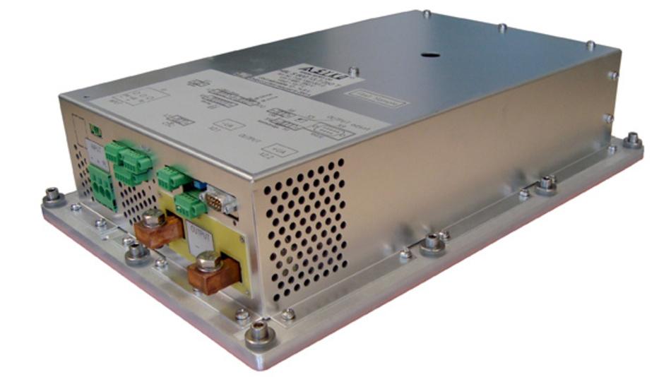 Akku-Ladegerät der Reihe HBL.H750 für den direkten Betrieb an Fahrspannung 600V/750V.
