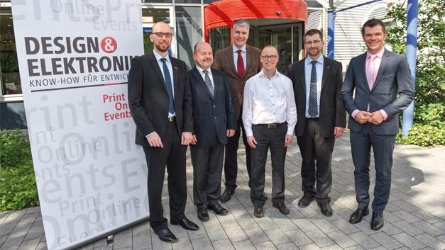 Die Teilnehmer des TechTalks »Magnetics für GaN und SiC«: Philipp Stürmer, Norbert Pieper, Dr. Peter Friedrichs, Ralf Higgelke, Dr. Jörn Schliewe und Oliver Opitz (v. l. n. r.).