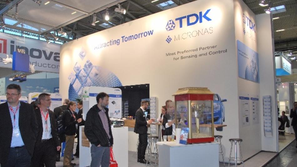Die 100-prozentige TDK-Tochter Micronas präsentiert sich auf der electronica erstmals mit dem Corporate Design der TDK-Gruppe.