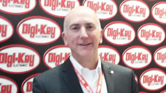 Dave Doherty, Presiden von Digi-Key: »Wir sind sehr erfolgreich und wachsen in Europa um 19 Prozent. Trotzdem müssen wir uns immer überlegen, was wir noch besser machen können. Das Feedback unserer Kunden ist uns dabei sehr willkommen. Schreiben Sie uns, was wir verbessern können oder welche Anregungen Sie für uns haben!«