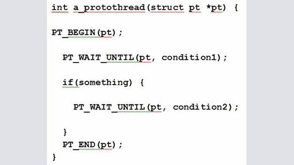 Bild 8: Protothread Code vs. Expandierte Makros.