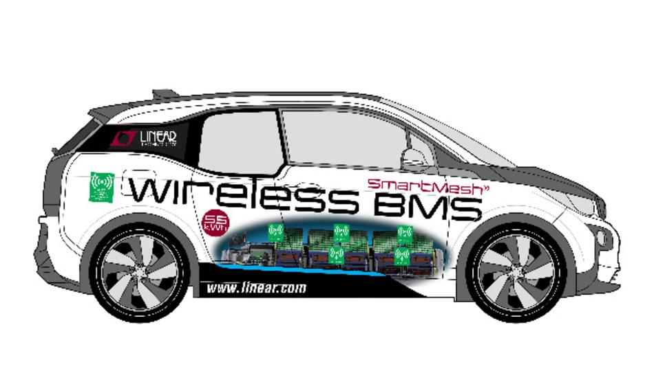 Im Konzeptauto, Modell BMW i3, kommen SmartMesh-Funknetzprodukte und Batterie-Überwachungs-ICs von Linear Technology zum Einsatz.