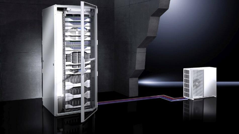 Das Split-Kühlgerät auf Kältemittelbasis bestehend aus einer Inneneinheit (Verdampfer) und einer Außeneinheit mit invertergeregeltem Kompressor sorgt für effiziente Kühlung ohne Raumverlust.