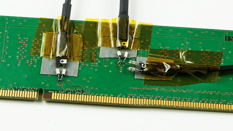 Bild 1. Die Tastköpfe der WaveLink-Serie ermöglichen die Kontaktierung auch von mehreren Sonden auf kleinstem Raum.