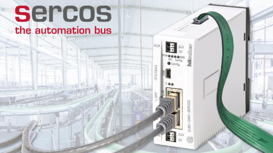 Das Gateway »EU5C-SWD-Sercos« übermittelt die Daten der diversen »SmartWire-DT«-Teilnehmer über Sercos an die Steuerung.