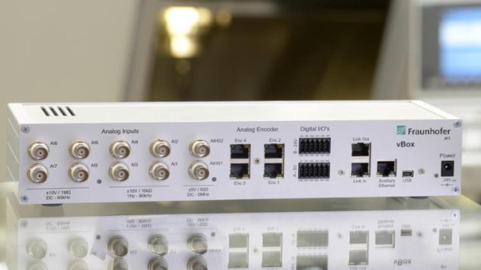 Die vBox von Fraunhofer bietet In- und Outputs für den Anschluss an die Industrie 4.0.