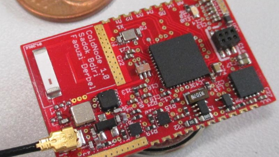 Die winzigen Sensorknoten funktionieren komplett drahtlos und energieautark.