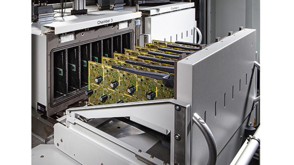 Bild 1. Für das temperierte Testen von Elekrronikbaugruppen für die Automobilindustrie entwickelte GEDIS einen neuen Prüfstand, der bestehende Testanlagen verbessert