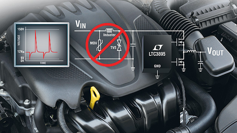 Das Hochvolt IC LTC3895 hat längere Batterielaufzeit und ein schnelles Transientenverhalten.