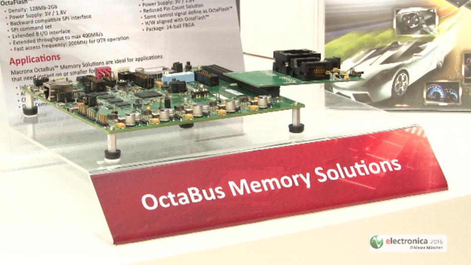 Das Octabus-Speicherinterface von Macronix kommt mit nur 12 Pins bei beachtlicher Performance aus