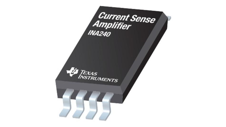 Untergebracht ist der Strommessverstärker in einem TSSOP-Gehäuse mit 8 Pins.