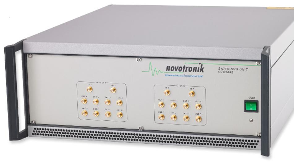 Die Novotronik-Schaltmatrix GTS3698 ist bereits bei der Gesellschaft für Hochfrequenzmesstechnik (GHMT) im Einsatz, die damit Prüfungen und Bewertungen von Datenkabeln der Kategorie 8.1 und 8.2, von Steckverbindern der Kategorie 8.2 sowie Übertragungsstrecken (Channel) der Class I und II für 40GBit-Applikationen vornimmt.