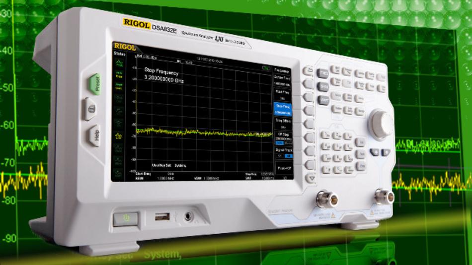 Der Rigol DSA832E-TG für genaue und hoch auflösende Messungen von 9 kHz bis 3,2 GHz.