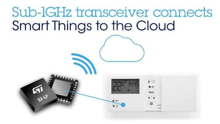 Der neue Transceiver von ST erlaubt die Anbindung an das globale Sigfox-Netzwerk.