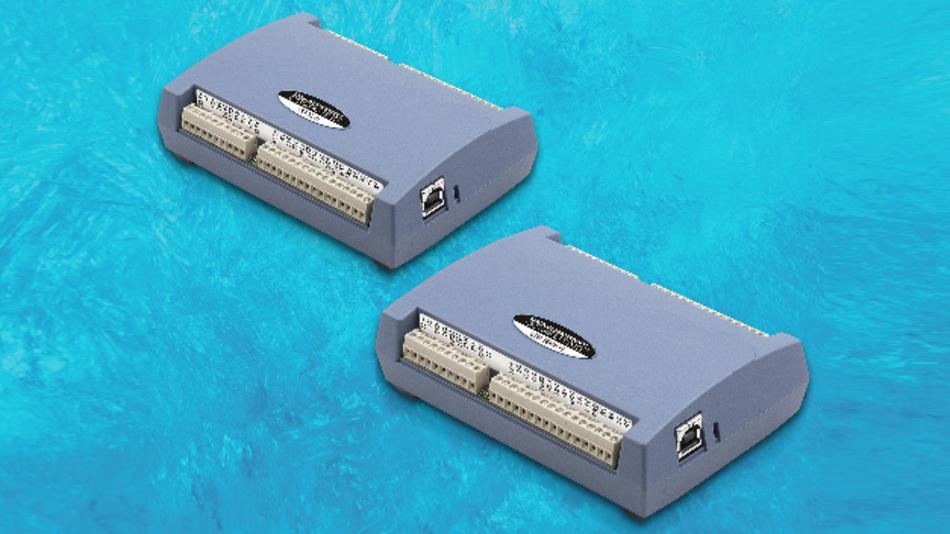 USB-Temperaturmessmodule USB-TEMP für den Direktanschluss von vier Sensortypen.