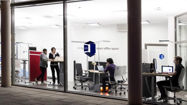 Das 'Living Lab smart office space' der TU Kaiserslautern und des DFKI wurde jetzt eröffnet.