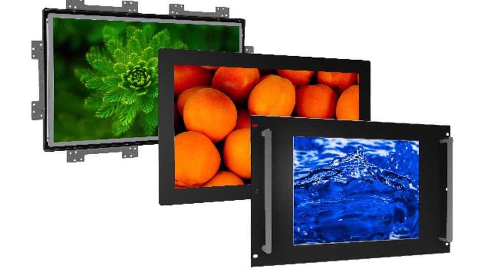 Frontseitig gemäß IP65 geschützt sind Distecs leichte Industrie-Monitore der »POS-Line V2«-Familie.