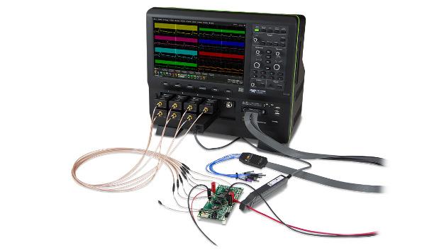 Bild. Mit dem RP4030 Tastkopf und der SPMI-Dekoder Option können Teledyne LeCroy HD-Oszilloskope sehr gut für den Test von Systemen mit Power Managment ICs eingesetzt werden.