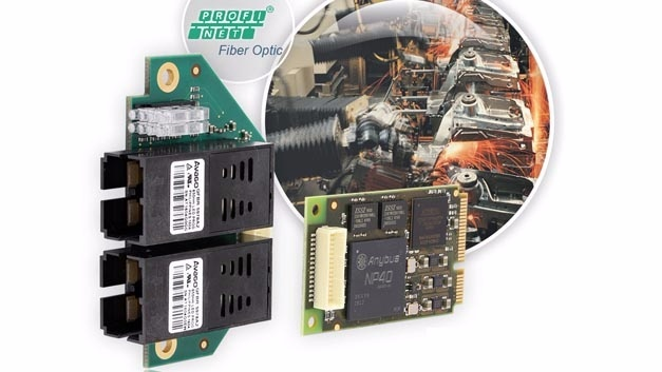 INpact PIRFO – PCIexpress-Mini-Karte für PROFINET mit Lichtwellenleiter.