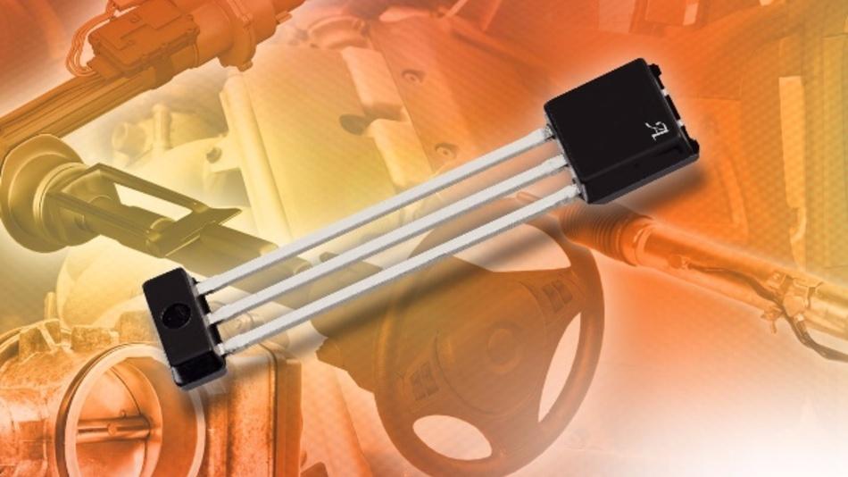 Programmierbarer linearer Hall-IC mit Diagnosefunktionen und integrierten Kondensatoren: Der A1342 von Allegro Microsystems.