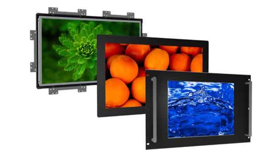Industriemonitore aus Distecs Baureihe »POS-Line V2« im Aluminiumgehäuse. Als Controller bietet der Hersteller verschiedene PC-Plattformen im unteren und oberen Leistungsbereich an.