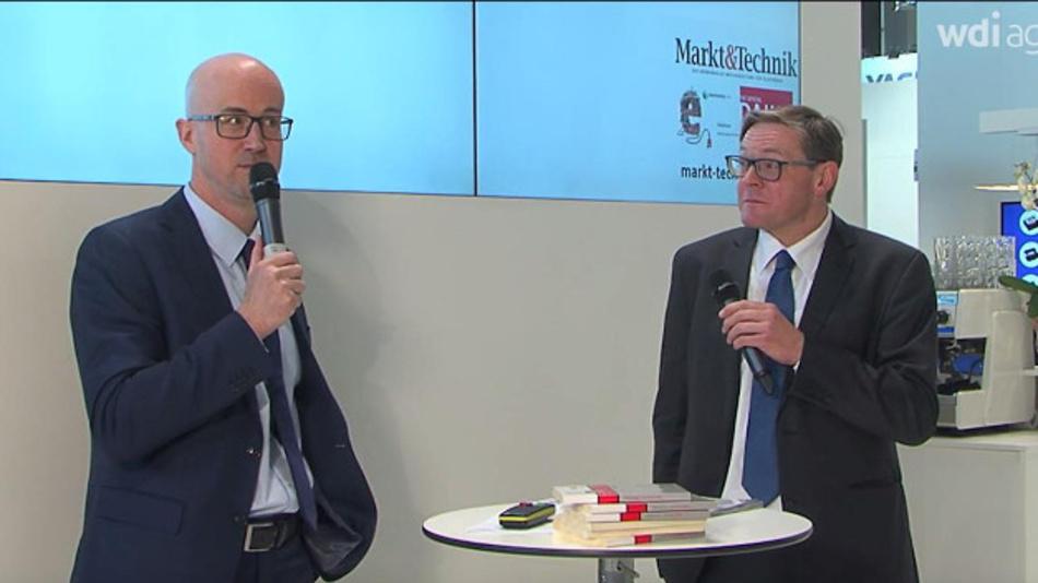 Matthäus Hose und Frank Behrens auf der electronica 2016.
