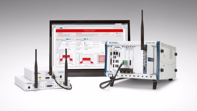 NI LabView Communications mit SDR-Hardware.