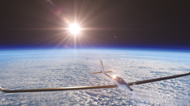 Die SolarStratos-Mission hat zum Ziel ab 2018 den ersten stratosphärischen Flug, angetrieben von reiner Sonnenerenergie, bis auf eine Höhe von mehr als 24 km zu fliegen.