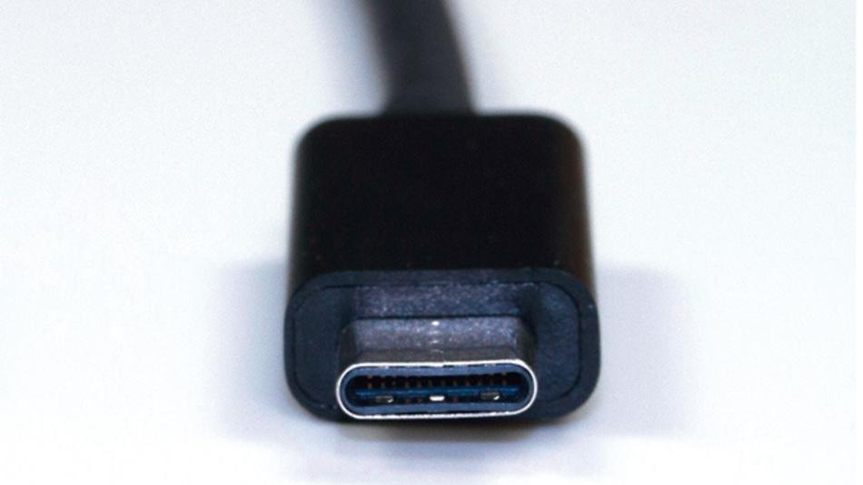 Beispiel für ein USB-Kabel mit symmetrischem Stecker vom Typ C.