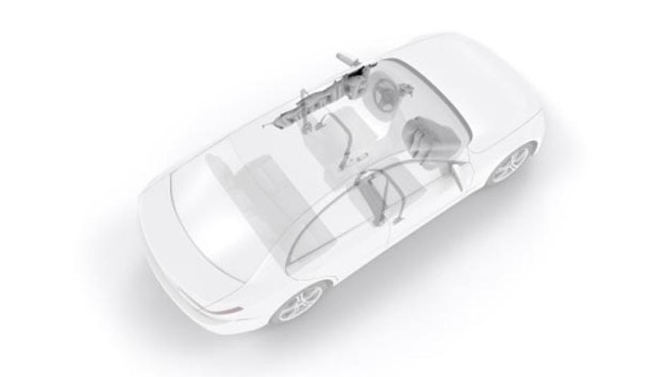 Das neue ZF-System aus Front- und Curtain-Airbags kann auch in extremen Schrägaufprall-Szenarien zu mehr Sicherheit im Fahrzeug beitragen.