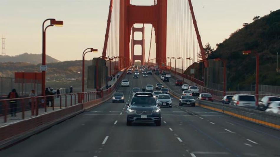 Der Volvo XC90 fährt im Pilotprogramm von Uber künftig selbstständig durch die Straßen von San Francisco.