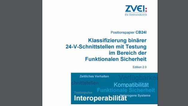 Positionspapier des ZVEI zum Thema 24-V-Schnittstellen