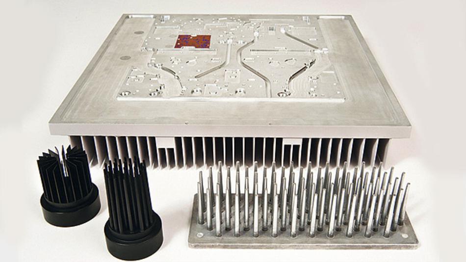 Bild 1. Die HDDC-Technologie (High Density Die Casting) von Aavid Thermalloy eignet sich für die Fertigung leistungsfähiger Kühlkörper und flüssigkeitsgekühlter Cold Plates auf Basis von Aluminiumlegierungen.