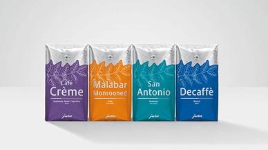 Neue Kaffee-Verpackungen von Jura