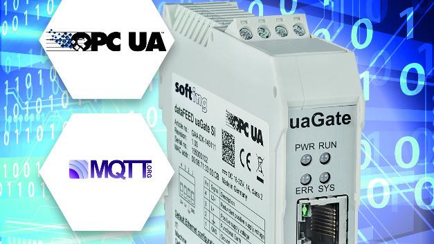 """Das Gateway """"dataFEED uaGate SI"""" von Softing Industrial unterstützt jetzt die Publisher-Funktionen des MQTT-Protokolls."""