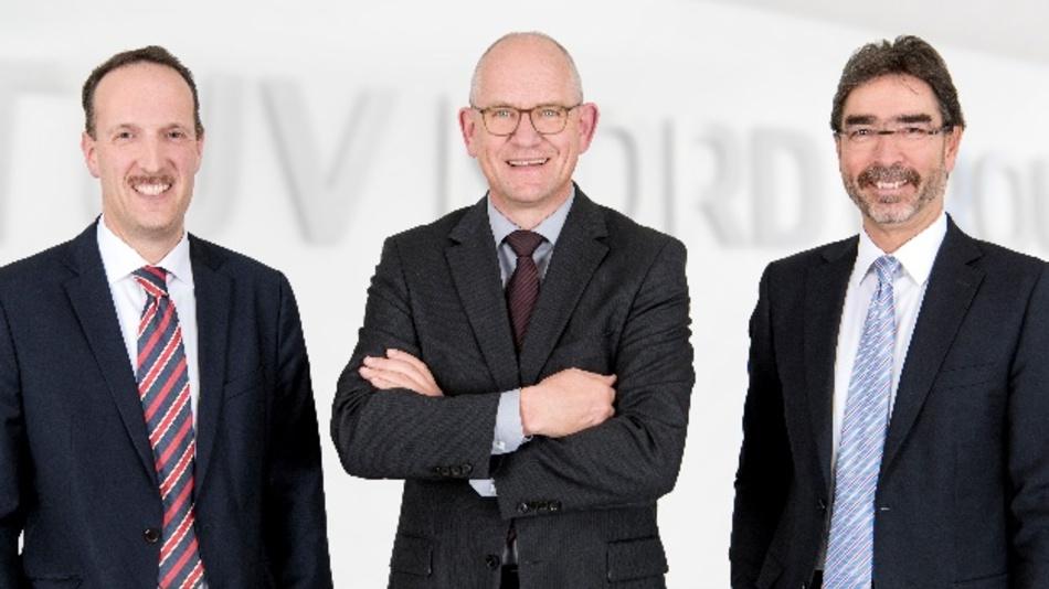 Der neue Vorstand der TÜV Nord Group (v.l.): Jürgen Himmelsbach (Finanzen), Dirk Stenkamp (Vorsitzender), Harald Reutter (Personal).