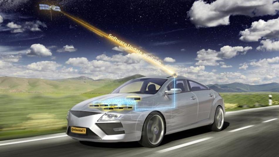 Continental kann weltweit Updates für die gesamte Fahrzeugsoftware über Luftschnittstelle zur Verfügung stellen.