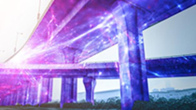 Glasfaserbasierte, dezentrale Sensorsysteme sollen zur Überwachung von ausgedehnten Infrastrukturobjekten eingesetzt werden.