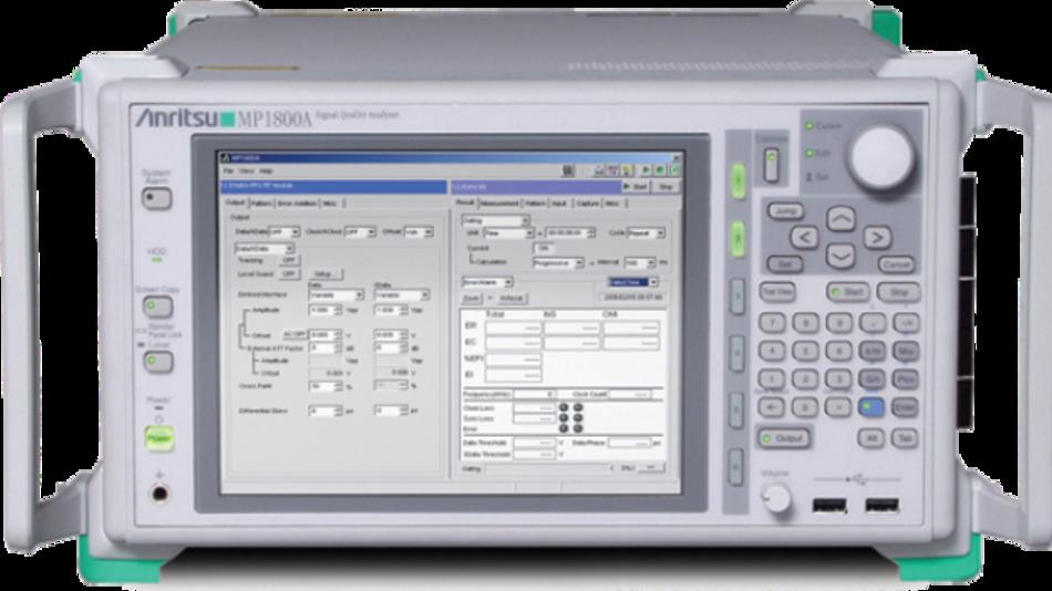 Signalqualitätsanalysator »Anritsu MP1800A« für 100G-EPON-Standard.